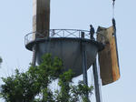 Water tower dismantled on Kentucky Ave.