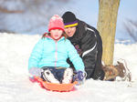 Tough Sledding: Snow can't keep some locals down