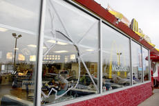 "<div class=""source"">Sun File Photo</div><div class=""image-desc"">A local fast food restaurant suffered damage after a February incident.</div><div class=""buy-pic""><a href=""/photo_select/15597"">Buy this photo</a></div>"