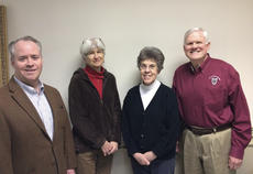 """<div class=""""source"""">Photo submitted</div><div class=""""image-desc"""">The 2014 officers of New Pioneers for a Sustainable Future are (from left to right) President James Spragens of Lebanon, Treasurer Dr. Sue Billings of Springfield, Secretary Joyce Minkler of Loretto and Vice-President Jim Silliman of Bardstown. New Pioneers is a community-based non-profit founded in Springfield in 2005 to promote sustainable thinking and sustainable development. For more info, check www.newpioneersfsf.org or call (859) 336-5070.</div><div class=""""buy-pic""""></div>"""
