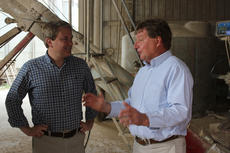 """<div class=""""source"""">Photo by Brandon Mattingly</div><div class=""""image-desc"""">Kentucky Commissioner of Agriculture James Comer, left, spoke with Pat Clements during a tour of Clements Ag Supply last Tuesday.</div><div class=""""buy-pic""""><a href=""""/photo_select/14143"""">Buy this photo</a></div>"""