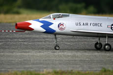 """<div class=""""source"""">Jesse Osbourne</div><div class=""""image-desc"""">This U.S. Air Force jet replica prepared for take off on Saturday.</div><div class=""""buy-pic""""><a href=""""/photo_select/12270"""">Buy this photo</a></div>"""