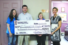 "<div class=""source"">Photo by Brandon Mattingly</div><div class=""image-desc"">Katie Essex, right, and Melody McClain, left, present a check to the Washington County School Board to be used in the Washington County Special Education Division. Accepting are Jason Simpson and Jill Settles.</div><div class=""buy-pic""><a href=""http://web2.lcni5.com/cgi-bin/c2newbuyphoto.cgi?pub=023&orig=Autism_check%2Bpresented.jpg"" target=""_new"">Buy this photo</a></div>"