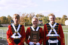 """<div class=""""source"""">Submitted</div><div class=""""image-desc"""">Washington County Marching Commander seniors Michael Cook, Kristen Harrod and Ryan Price pose with their distinguised plaque from regional competition. The band will march in state competition at 2:30 p.m. Saturday at Louisville's Pleasure Ridge Park High</div><div class=""""buy-pic""""><a href=""""/photo_select/994"""">Buy this photo</a></div>"""