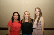 """<div class=""""source"""">Photo by SCC Sports Information</div><div class=""""image-desc"""">Three volleyball players were among seven Patriot athletes receiving Honorable Mention for the All Mid-South Conference teams. From left – Randa Murphy, a junior from Green County High School, Rebecca Just, a freshman from LouisvilleduPont Manual High School and Allie Southard, a sophomore from Louisville Eastern High School.</div><div class=""""buy-pic""""></div>"""