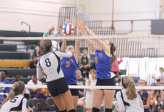 "<div class=""source"">Photo by Brandon Mattingly</div><div class=""image-desc"">Washington County volleyball and boys' golf each took part in 5th Region All-A tournaments last week. LeeAnn Abell, left, and Morgan Mann block a Green County player's shot at the net.</div><div class=""buy-pic""><a href=""/photo_select/12573"">Buy this photo</a></div>"