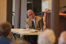 """<div class=""""source"""">Photo by Brandon Mattingly</div><div class=""""image-desc"""">Sen. Jimmy Higdon said his primary objective is to assemble a special meeting to review Kentucky's eminent domain laws.</div><div class=""""buy-pic""""><a href=""""/photo_select/14824"""">Buy this photo</a></div>"""