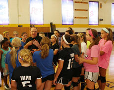 """<div class=""""source"""">Photo by SCC Sports Information</div><div class=""""image-desc"""">St. Catharine College head coach Jason McDannold gave instructions to the campers at the Patriots' middle school camp held on campus from Monday through Wednesday.</div><div class=""""buy-pic""""></div>"""