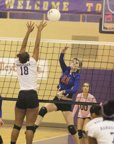 """<div class=""""source"""">Photo by Brandon Mattingly</div><div class=""""image-desc"""">Sophomore Halie Browning fires a ball across the net in Washington County's first-round win on Monday night.</div><div class=""""buy-pic""""><a href=""""/photo_select/12972"""">Buy this photo</a></div>"""