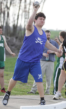 "<div class=""source"">Photo by Jeff Moreland</div><div class=""image-desc"">Junior Jarrett Mattingly launches the shot in one of his three throws during a meet at Marion County last Tuesday.</div><div class=""buy-pic""><a href=""/photo_select/14133"">Buy this photo</a></div>"
