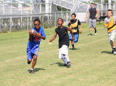 """<div class=""""source"""">Photo by Brandon Mattingly</div><div class=""""image-desc"""">JaVonte Wright hauled in a deep pass for a touchdown in a scrimmage last week, drawing a reaction from teammate Jakobie Hughes.</div><div class=""""buy-pic""""><a href=""""/photo_select/14514"""">Buy this photo</a></div>"""