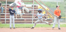 "<div class=""source"">Photo by Brandon Mattingly</div><div class=""image-desc"">Jaja Churchill looked to the outfield as he rounded third and headed for home for an inside-the-park home run.</div><div class=""buy-pic""><a href=""/photo_select/14335"">Buy this photo</a></div>"