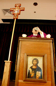 "<div class=""source"">Brent Schandiang</div><div class=""image-desc"">Father Ben Brown delivers a 12:30 p.m. Ash Wednesday Mass at St. Catharine College. About 50 attended the service which marked the first day of Lent. </div><div class=""buy-pic""><a href=""/photo_select/13872"">Buy this photo</a></div>"