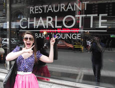 """<div class=""""source"""">courtesy of Charlotte Campbell</div><div class=""""image-desc"""">She was a long way from Springfield, but Charlotte Campbell felt right at home when she found this New York City lounge.</div><div class=""""buy-pic""""></div>"""
