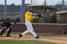 "<div class=""source"">Photo by SCC Sports Information</div><div class=""image-desc"">Joey Xavier, a senior first baseman from Selma, Calif., had a grand slam and six runs batted in against Cumberlands in Saturday's first game.</div><div class=""buy-pic""></div>"
