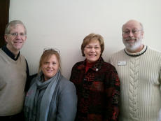 """<div class=""""source"""">SCC Communications</div><div class=""""image-desc"""">Four representatives from St. Catharine College recently attended a conference in Florida held by the Southern Association of Colleges and Schools. The purpose of the conference was to learn ways to offer new and exciting programs to the SCC curriculum. Pictured, from left to right, are Dr. Rob Slocum, Dean of the School of Arts and Sciences, Nora Hatton, Director of Institutional Research and Effectiveness, Evelyn Silliman, Director of the rtl3 Reading Program, and Dr. Don Giles, Vice President for Academic Affairs.</div><div class=""""buy-pic""""></div>"""