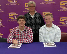 "<div class=""source"">Photo by SCC Sports Information</div><div class=""image-desc"">Aaron Spalding and Chase Spalding recently signed golf scholarships with St. Catharine College Head Coach Joan Rizer.</div><div class=""buy-pic""></div>"