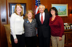 """<div class=""""source"""">Photo submitted</div><div class=""""image-desc"""">City Council members, Brooke Coulter, Lisa Haydon and Carolyn Hardin attended the Kentucky League of Cities day in Frankfort on Feb. 1, and met with Gov. Steve Beshear. The event was for city officials to meet with their legislators and government leaders to discuss issues affecting Kentucky cities. </div><div class=""""buy-pic""""></div>"""
