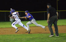 "<div class=""source"">Photo by Peter W. Zubaty/Landmark News Service</div><div class=""image-desc"">Sophomore Wade Moore got a Bethlehem baserunner caught in a rundown in last week's 9-5 second-round loss to the Eagles.</div><div class=""buy-pic""><a href=""http://web2.lcni5.com/cgi-bin/c2newbuyphoto.cgi?pub=023&orig=beth_wc_sun_02.JPG"" target=""_new"">Buy this photo</a></div>"