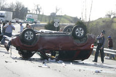 "<div class=""source"">Jesse Osbourne</div><div class=""image-desc"">This 2011 Ford Escape rested upside down on KY 55 at noon on Monday at the intersection of KY 528. Two motorists were taken to Spring View Hospital for treatment. Both were wearing seat belts.   </div><div class=""buy-pic""><a href=""/photo_select/10428"">Buy this photo</a></div>"