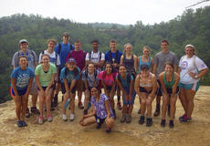 "<div class=""source"">Photo submitted</div><div class=""image-desc"">Erika Weir, pictured in the front row above, third from left, stands with fellow Governor's Scholar members at the Natural Bridge State Park.</div><div class=""buy-pic""></div>"