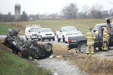 """<div class=""""source"""">Jesse Osbourne</div><div class=""""image-desc"""">One victim was flown to University of Kentucky hospital, while another was taken to Spring View Hospital in Lebanon after this collision on the bypass, near KY 555. Details about the welfare of the victims were not available at press time. </div><div class=""""buy-pic""""><a href=""""/photo_select/10245"""">Buy this photo</a></div>"""