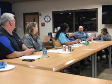 "<div class=""source"">Nick Schrager</div><div class=""image-desc"">Police chief Jim Smith talks with board members</div><div class=""buy-pic""><a href=""/photo_select/21293"">Buy this photo</a></div>"