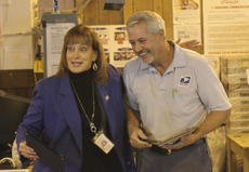 """<div class=""""source"""">Photo by Brandon Mattingly</div><div class=""""image-desc"""">Manager of Post Office Operations Rosemary Miller congratulated Marshall Simpson on a pair of honors last Friday at the Springfield Post Office.</div><div class=""""buy-pic""""><a href=""""http://web2.lcni5.com/cgi-bin/c2newbuyphoto.cgi?pub=023&orig=img_2710.jpg"""" target=""""_new"""">Buy this photo</a></div>"""