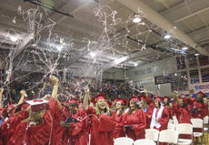 """<div class=""""source"""">Photo by John Overby</div><div class=""""image-desc"""">Washington County High School seniors had one last hurrah last Friday as they celebrated graduation for the 2013-14 school year in the WCHS gymnasium. The event was followed by project graduation.</div><div class=""""buy-pic""""><a href=""""/photo_select/16509"""">Buy this photo</a></div>"""