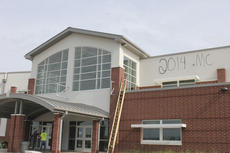 """<div class=""""source"""">Photo by Brandon Mattingly</div><div class=""""image-desc"""">Vandalism was found at the site of the new Washington County High School on Friday morning. Superintendent Robin Cochran said the damage appears to have occurred around 2 a.m.</div><div class=""""buy-pic""""><a href=""""/photo_select/17021"""">Buy this photo</a></div>"""