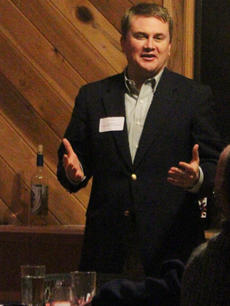 """<div class=""""source"""">Photo by John Overby</div><div class=""""image-desc"""">This past Monday night, Kentucky Commissioner of Agriculture James Comer attended a meeting held by the Kentucky Wine Association at Horseshoe Bend Vineyard and Winery in Willisburg.</div><div class=""""buy-pic""""><a href=""""/photo_select/15711"""">Buy this photo</a></div>"""
