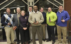 "<div class=""source"">Photo by John Overby</div><div class=""image-desc"">Pictured above are the award winners from last Friday's Springfield-Washington County Chamber of Commerce Awards Gala. From left to right, Wesley Smith (Entrepreneur of the Year), Bobby and Belle Sutton (Sidewalk Hall of Fame), Seth Robinson (Youth Leadership), Bernard Smalley (Citizen of the Year), Rick Greenwell (Ag Achievement), John Graves (Chamber Member of the Year) and Richard Medley (Ag Leadership).</div><div class=""buy-pic""><a href=""/photo_select/15734"">Buy this photo</a></div>"
