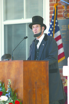 "<div class=""source"">Sun File Photo</div><div class=""image-desc"">Joe Hamilton plays the role of Abraham Lincoln during the April grand opening of the Lincoln Legacy Museum at the 1816 Courthouse building.</div><div class=""buy-pic""><a href=""/photo_select/15604"">Buy this photo</a></div>"