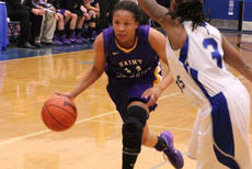"""<div class=""""source"""">Photo by SCC Sports Information</div><div class=""""image-desc"""">SCC senior guard Machera Calhoun (Fort Myers, Fla.) was a vital part of the Lady Patriots' gameplan against Lindsey Wilson College. However, SCC fell short, losing by a score of 90-73.</div><div class=""""buy-pic""""></div>"""