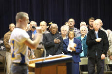 """<div class=""""source"""">Jesse Osbourne</div><div class=""""image-desc"""">Nearly 50 veterans were in attendance during Veteran's Day activities at Washington County High School on Friday. </div><div class=""""buy-pic""""><a href=""""/photo_select/10181"""">Buy this photo</a></div>"""