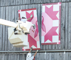 "<div class=""source""></div><div class=""image-desc"">A barn quilt piece created by the Washington County Cancer Coalition was hung at the home of Barbara Hale Wheatley, a two-time breast cancer survivor, Monday morning. </div><div class=""buy-pic""><a href=""/photo_select/2250"">Buy this photo</a></div>"