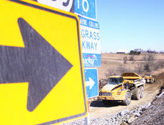 """<div class=""""source"""">Jeff Moreland</div><div class=""""image-desc"""">Heavy equipment of all types is being used to get the bypass project as far along as possible while the weather cooperates.</div><div class=""""buy-pic""""><a href=""""/photo_select/1979"""">Buy this photo</a></div>"""