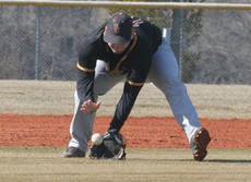 "<div class=""source"">Jimmie Earls</div><div class=""image-desc"">Patriot senior third baseman Brian Jones scoops up a ground ball to fire across the infield for a put-out at first in recent SCC baseball play.</div><div class=""buy-pic""><a href=""/photo_select/4951"">Buy this photo</a></div>"