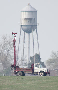 """<div class=""""source"""">Jeff Moreland</div><div class=""""image-desc"""">Drilling began on Monday to determine if some of the proposed sites for a new Washington County High School would be suitable. Results from the tests should be available within two weeks. </div><div class=""""buy-pic""""><a href=""""/photo_select/8299"""">Buy this photo</a></div>"""
