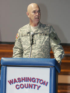 "<div class=""source"">Jeff Moreland</div><div class=""image-desc"">Brigadier General Lonnie Culver of Bardstown was the keynote patriotic speaker at Friday's Veteran's Day celebration.</div><div class=""buy-pic""><a href=""/photo_select/379"">Buy this photo</a></div>"