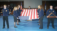 "<div class=""source"">Jeff Moreland</div><div class=""image-desc"">Washington County FFA students presented the meaning of the folding of the American flag at Friday's Veteran's Day ceremony at Washington County High School.</div><div class=""buy-pic""><a href=""/photo_select/377"">Buy this photo</a></div>"