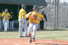 "<div class=""source"">Jimmie Earls</div><div class=""image-desc"">Patriot second baseman Justin Witt crosses the plate to score SCC's first Mid-South Conference run against Grace College Friday. The Patriot's swept the Lancers 10-0, 8-0 in their season opening double-header.</div><div class=""buy-pic""><a href=""/photo_select/4883"">Buy this photo</a></div>"