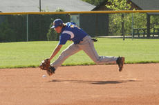 """<div class=""""source"""">Jimmie Earls</div><div class=""""image-desc"""">Washington County sophomore shortstop Trae Abell goes to his right to track down a ground ball against Mercer County Thursday evening. Despite a close score in the early going, the Titans took a 7-2 lead in the seventh to hand the Commanders the loss.</div><div class=""""buy-pic""""><a href=""""/photo_select/5897"""">Buy this photo</a></div>"""