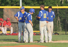 "<div class=""source"">Jimmie Earls</div><div class=""image-desc"">With the bases loaded for WC as Nelson County made a pitching change in the fourth inning, WC head coach Derek Schuler, left, talks to baserunners Jacob Settles, Ben Simms and Alex Simms during the 19th District championship game last week.</div><div class=""buy-pic""><a href=""/photo_select/4489"">Buy this photo</a></div>"