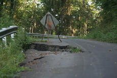 """<div class=""""source"""">Jimmie Earls</div><div class=""""image-desc"""">A section along Hardesty Road remains heavily damaged from the floods that hit Washington County earlier in the spring. The damage will cause traffic to be detoured, including school buses, which could see up to 30 more miles added to bus routes, accordin</div><div class=""""buy-pic""""><a href=""""http://web2.lcni5.com/cgi-bin/c2newbuyphoto.cgi?pub=023&orig=web_20100804_hardestyroad2.jpg"""" target=""""_new"""">Buy this photo</a></div>"""