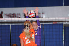 """<div class=""""source"""">Photo by SCC Sports Information</div><div class=""""image-desc"""">Casey Sisk, a St. Catharine freshman middle blocker from Lexington, goes up for a block in the Patriots' 3-0 win Sunday over Pikeville.</div><div class=""""buy-pic""""></div>"""