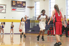 "<div class=""source"">Jimmie Earls</div><div class=""image-desc"">In late-season play against Rio Grande, SCC junior guard Emily Caras, left, sets the Patriot offense as fellow junior guard Sa'de Mullins gets into position.</div><div class=""buy-pic""><a href=""/photo_select/6366"">Buy this photo</a></div>"