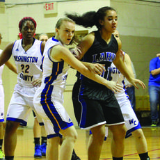 "<div class=""source"">Photo by Shorty Lassiter</div><div class=""image-desc"">WC sophomore Taylor Eldridge defends LaRue's Alexis Brewer last Tuesday night.</div><div class=""buy-pic""><a href=""/photo_select/15897"">Buy this photo</a></div>"