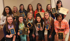 """<div class=""""source"""">Photo by John Overby</div><div class=""""image-desc"""">Pictured are several members of Washington County's 2013-2014 academic-award-winning volleyball team (shown at last year's team banquet). The squad posted a 3.6 team GPA. </div><div class=""""buy-pic""""><a href=""""/photo_select/16938"""">Buy this photo</a></div>"""