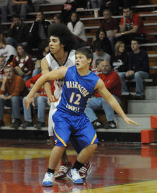 """<div class=""""source"""">Richard RoBards</div><div class=""""image-desc"""">Washington County senior center Steven Sexton (21) fights for position with Taylor County junior guard Tevin Webster as the Commanders opened the 2009/10 basketball season with a 62-23 loss to the Cardinals last Tuesday.</div><div class=""""buy-pic""""><a href=""""/photo_select/4224"""">Buy this photo</a></div>"""